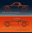 abstract retro sport car design vector image vector image