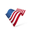 american flag waving isolated vector image vector image