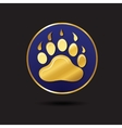 Animal footprint for ecology design logo template