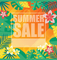 banner summer sale transparent jungle image vector image vector image