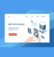 best hotel deals website vector image