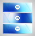 Blurred banners vector image