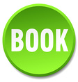 book green round flat isolated push button vector image vector image