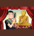 buddhist man vector image