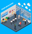 business coaching isometric composition vector image vector image