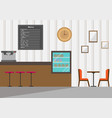 cafe interior designcoffee shop in flat style vector image vector image