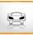 car web flat icon vector image