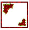 christmas frame red 02 vector image