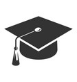 college graduate cap black icon education image vector image vector image