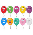 colorful balloons cartoon character 03 collection vector image vector image