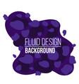 creative of modern fluid vector image