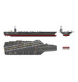 detailed image of aircraft carrier military ship vector image vector image
