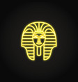 egyptian pharaoh icon in glowing neon style vector image vector image