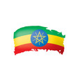 ethiopia flag on a white vector image vector image