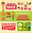 fast food restaurant banners set vector image
