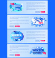 final sale big winter discount - 70 off new offer vector image vector image