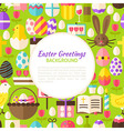Flat Happy Easter Pattern Background vector image vector image