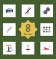 flat icon auto set of lifting belt carrying and vector image vector image