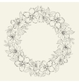 Floral wreath - wedding design vector image vector image