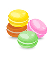French macarons isolated on white background vector image