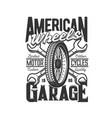 garage custom motorcycle motor car races speedway vector image vector image