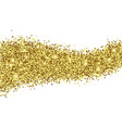 gold foil glitter texture isolated vector image vector image