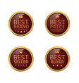 Golden best labels vector image vector image