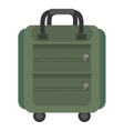 green suitcase packback travel bag tourist vector image vector image