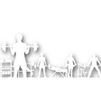 gymnasium cutout vector image vector image