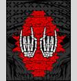 hand metal symbol vector image