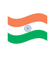 india flag official colors vector image