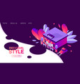 isometric landing page banner template in vector image vector image