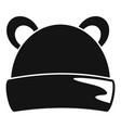 kid winter headwear icon simple style vector image vector image