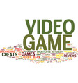 learn the inside scoop to video game cheats vector image vector image