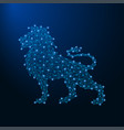 lion made by points and lines polygonal wireframe vector image