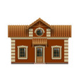 little toy house vector image