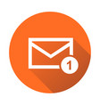mail envelope message in flat style on round vector image vector image