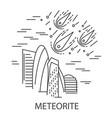 meteorite natural disaster vector image vector image