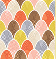 mid century overlapping egg pattern for easter vector image vector image
