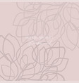modern abstract pattern floral doodles hand brush vector image vector image