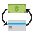 money icon on white background credit card and vector image