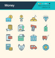money icons filled outline design collection 34 vector image vector image