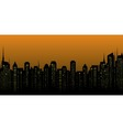 night city landscape and many skyscrapers vector image vector image