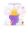 people insert brain into head vector image vector image