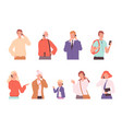 phone dialogue talking people male and female vector image vector image