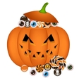 pumpkin busket vector image vector image