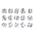 realistic geometric 3d square shape silver vector image
