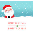 santa claus holding up a gift box in christmas vector image vector image