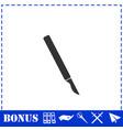 scalpel icon flat vector image vector image