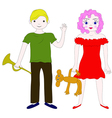 school-age children boy and girl vector image